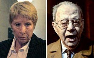 Portraits de l'ancienne pédiatre Elisabeth Mugnier (g) et le professeur Fernand Dray