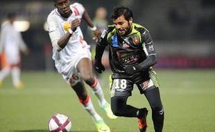 Le milieu d'Ajaccio, Johan Cavalli, lors d'un match contre Nancy.