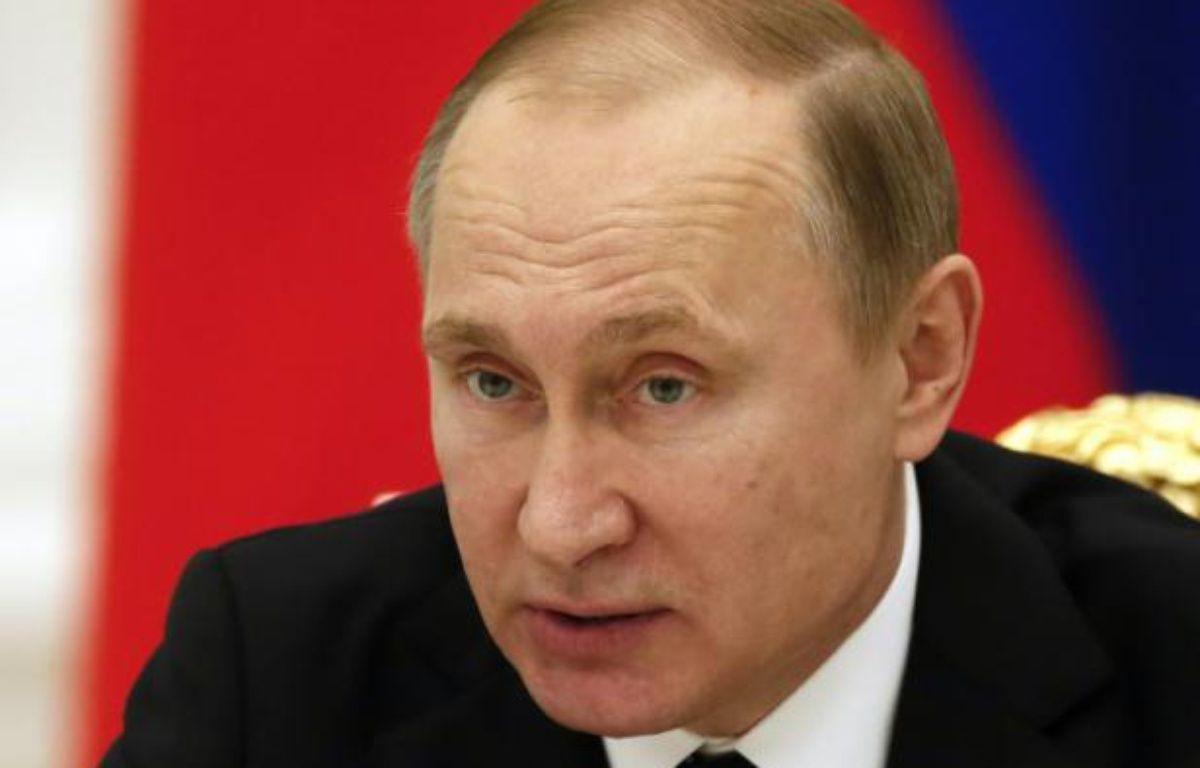 Le président russe Vladimir Poutine, le 21 janvier 2016 au Kremlin, à Moscou – SERGEI ILNITSKY POOL