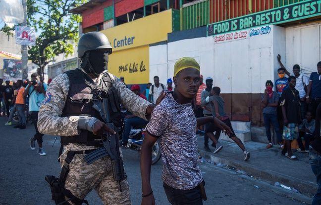 648x415 intervention d un policier lors d une manifestation demandant le depart du president jovenel moise a