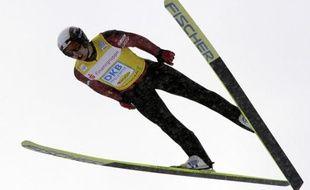 Le spécialiste français du combiné nordique, Jason Lamy-Chappuis, lors de l'épreuve d'Oberhof le 2 janvier 2010.