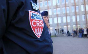 Illustration d'un CRS, ici en poste à Rennes.