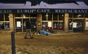Un sans-abris, ici à Strasbourg. (illustration)