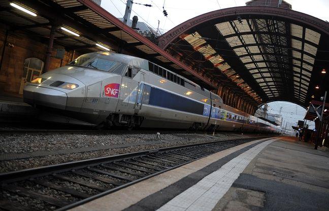 TGV en gare de Strasbourg le 08 12 2008