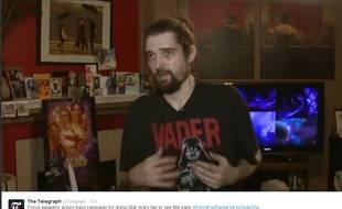 Capture d'écran d'une intervention de Daniel Fleetwood, atteint d'un cancer, à la télévision locale aux Etats-Unis.