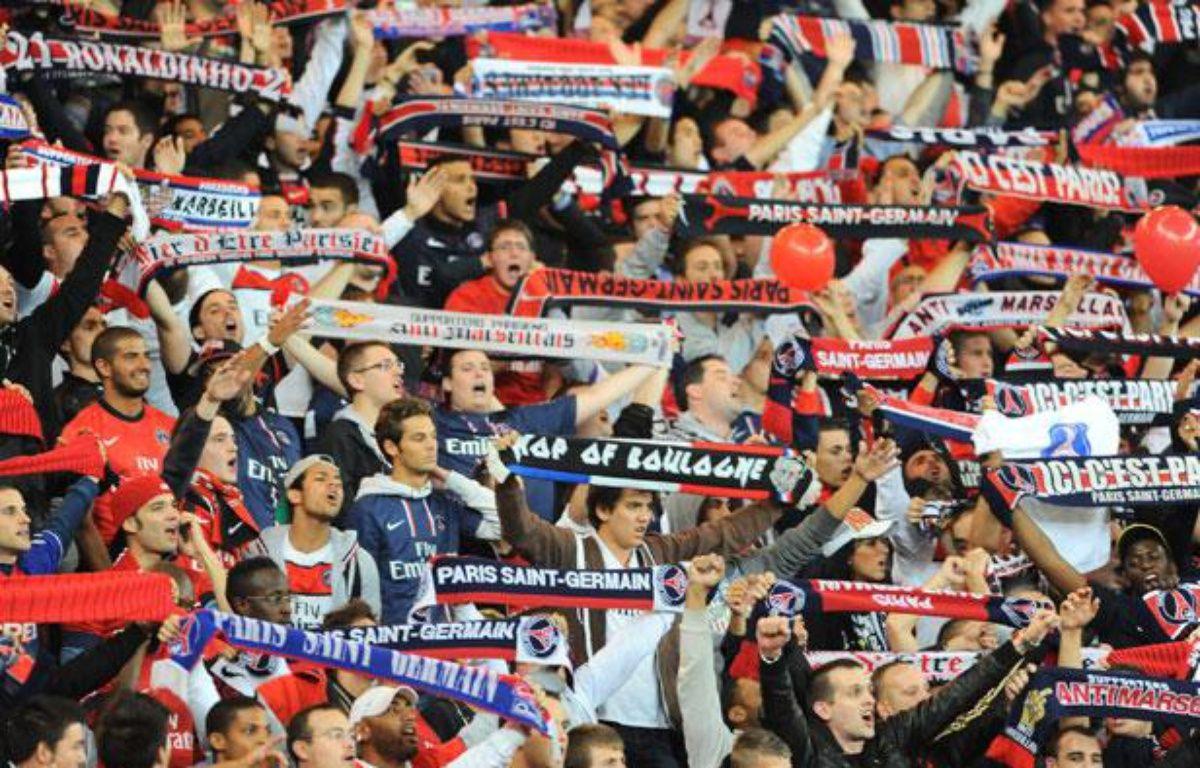 Les supporters du PSG lors de la rencontre de Ligue des champions face au Dynamo Kiev, le 18 septembre au Parc des Princes. – REAU ALEXIS/SIPA
