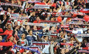 Les supporters du PSG lors de la rencontre de Ligue des champions face au Dynamo Kiev, le 18 septembre au Parc des Princes.