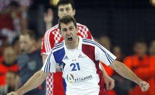 Michaël Guigou en finale du mondial 2009 en Croatie.