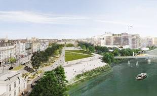 Vue aérienne de la future place de la Petite-Hollande.