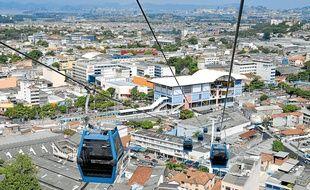 Le tram aérien de Rio conçu par Poma.