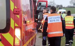 Illustration d'une intervention des pompiers, ici près de Rennes.