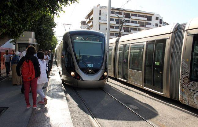 La station de tramway de la place Al Joulane, à Rabat (Maroc), le 10 octobre 2016.
