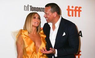 La chanteuse Jennifer Lopez et son fiancé Alex Rodriguez