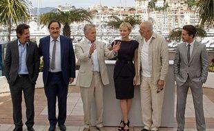 L'équipe de Wall Street, l'argent ne dort jamais à Cannes le 14 mai.
