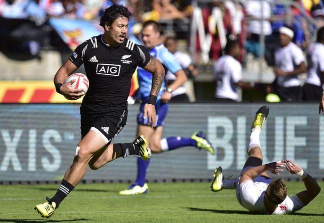 Ben Lam sous le maillot All Black avec l'équipe de rugby à 7.