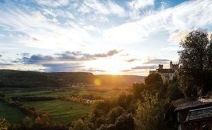 Vue de la vallée de Beynac-et-Cazenac (Dordogne).