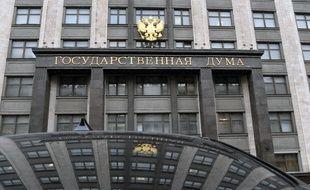 La bâtiment de la Douma, la chambre basse du Parlement russe à Moscou, le 21 mars 2018.