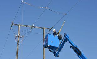 Les techniciens d'Enedis sont intervenus après la coupure d'électricité. Illustration.