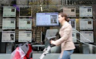 Une agence immobilière à Paris en octobre 2008.
