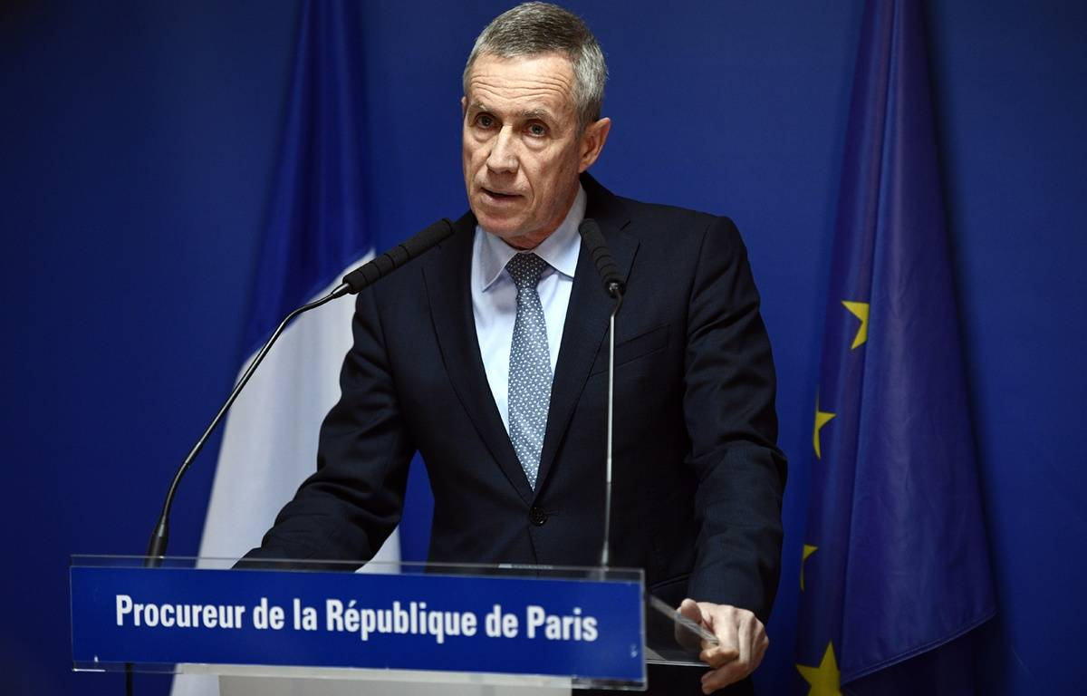 Le procureur François Molins lors d'une conférence de presse mardi 18 avril, au sujet d'un attentat déjoué à Marseille. – Martin BUREAU / AFP