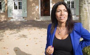 Marseille le 14 octobre 2013 - Samia GHALI est arrivée en tête du premier tour des primaires socialistes . Elle répond à la presse depuis sa mairie du 15 et 16 e arrts