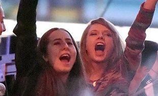 Taylor Swift au concert de Calvin Harris