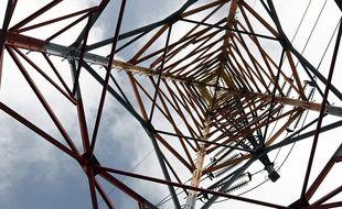 Un pylône électrique. Illustration.