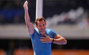 Renaud Lavillenie, champion olympique de saut à la perche.