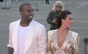 Kanye West et Kim Kardashian à Cannes, le 23 mai 2012.
