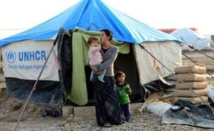 Une famille yézidie dans un camp de réfugiés du nord de l'Irak. (illustration)