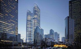 Groupama, propriétaire du site, et Vinci, constructeur, ont lancé la construction de la tour «The Link» à la Défense. Un chantier de plus d'un milliard d'euros.