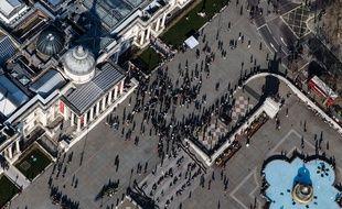 Vue aérienne de la National Portrait Gallery à Londres.