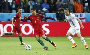 Cristiano Ronaldo, face à l'Islande, le 14 juin 2016.