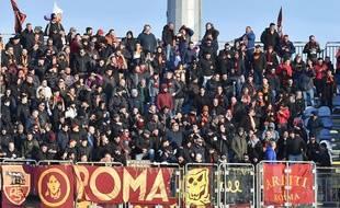 Des supporters de la Roma en déplacement au mois de mars