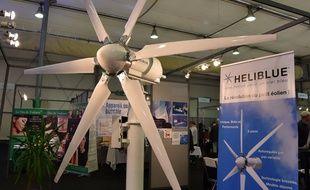 L'éolienne à six pales d'Heliblue a remporté le prix du Premier ministre du concours Lépine européen de Strasbourg 2015.