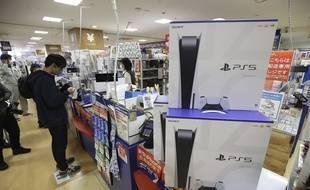 Une PS5 dans un magasin, au Japon.