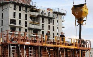 Construction de logements sur Nantes (illustration).
