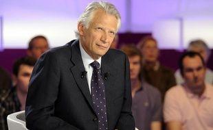 Dominique de Villepin sur le plateau de «C Politique» le 10 avril 2011.