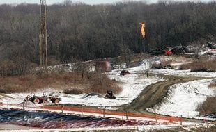 Forage de gaz de schiste en Pennsylvanie, aux Etats-Unis, le 24 février 2009.
