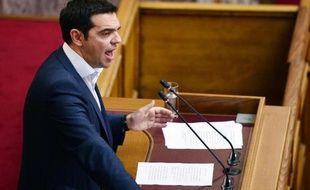 Le Premier ministre grec, Alexis Tsipras au Parlement, le 16 juin 2015