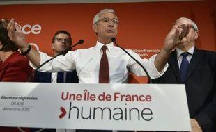 Claude Bartolone, tête de liste socialiste pour les régionales en Ile-de-France, lors d'une réunion à Paris, le 27 septembre 2015