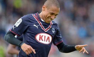 L'attaquant des Girondins, Jussiê, lors d'un match contre Guingamp, disputé le 20 avril 2014.
