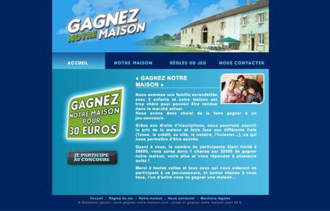 Une famille met sa maison en jeu sur internet pour ponger for Jeu pour gagner une maison