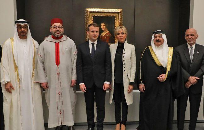 Brigitte et Emmanuel Macron lors de l'inauguration du Louvre Abu Dhabi, le 8 novembre.