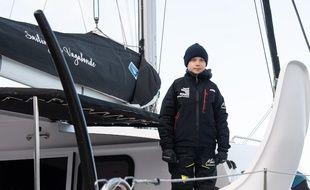 Greta Thunberg sur le voilier avant sa traversée de l'Atlantique, le 13 novembre 2019.