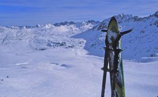 Une piste de ski en Andorre. Illustration.