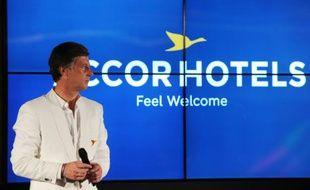 Le PDG d'Accor Hotels Sébastien Bazin le 3 juin 2015 à Paris