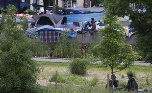 Le campement des Jardins d'Eole, à Paris