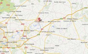 Goople map de Lizy-sur-Ourcq, en Seine-et-Marne.