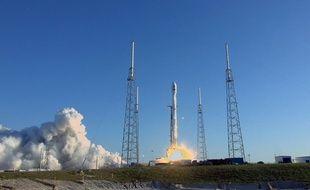 Lancement de la fusée SpaceX contenant le satellite TESS, le 18 avril 2018.